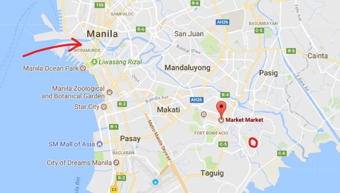 visa-extension-philippines_map-of-manila