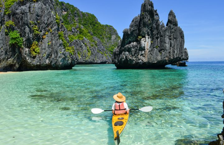 Kayaking in Palawan, Philippines