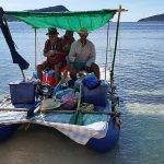 Custom private or group kitesurfing or kiteboarding boat tour expeditions between El Nido and Coron