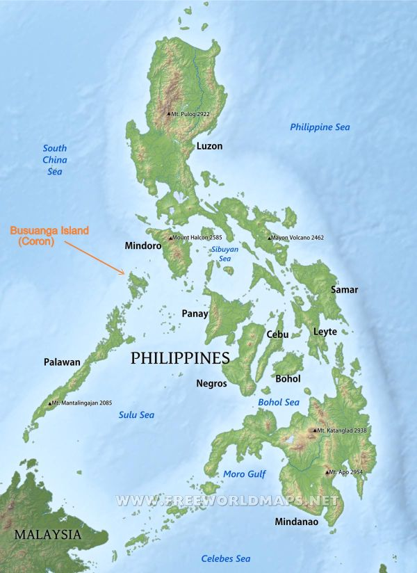 motorbike-map-philippines | Island Hopping in the Philippines - Palawan