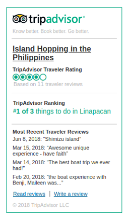 Tripadvisor reviews of Island Hopping in the Philippines