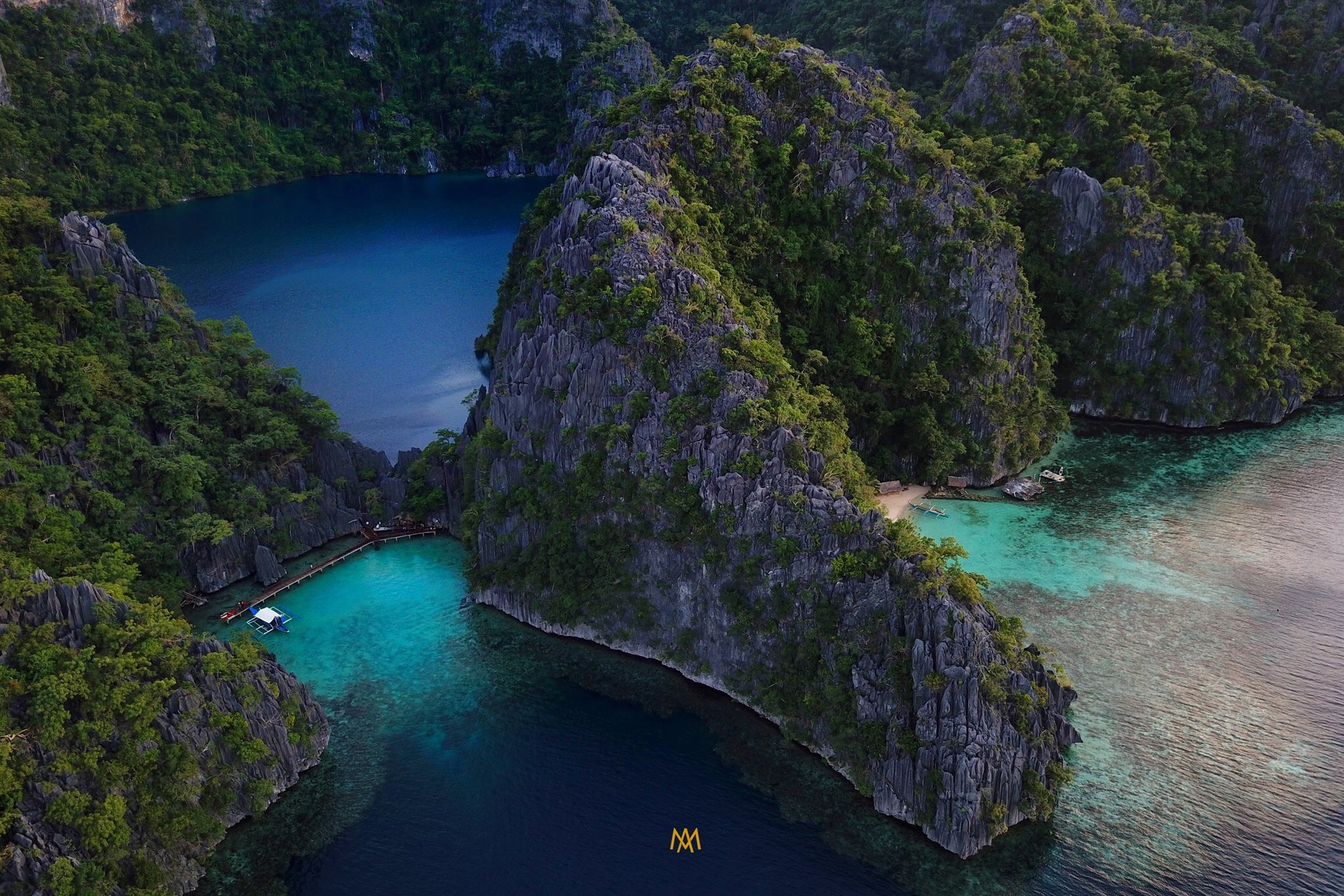 Beautiful drone shots on Combination El Nido Tour plus Multiday Tour to Coron.