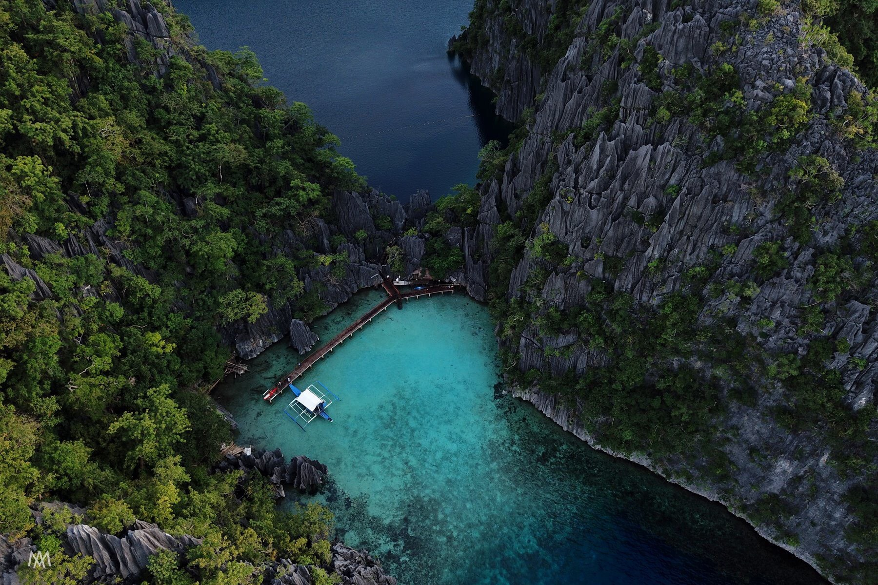 Secluded lagoons on Combination El Nido Tour plus Multiday Tour to Coron.