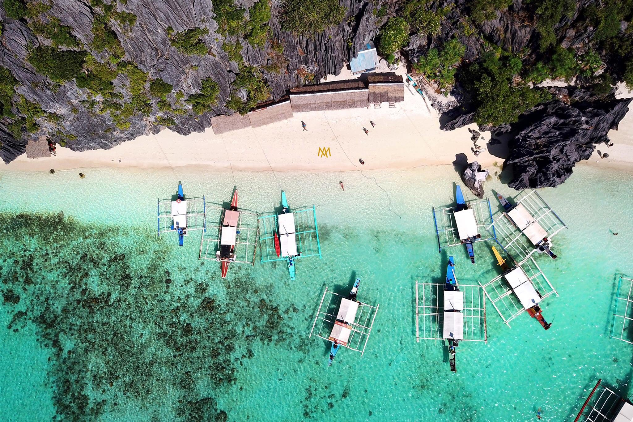 Secluded places on Combination El Nido Tour plus Multiday Tour to Coron.