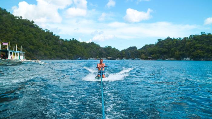 Rent our wakesurf board on Combination El Nido Tour plus Multiday Tour to Coron.