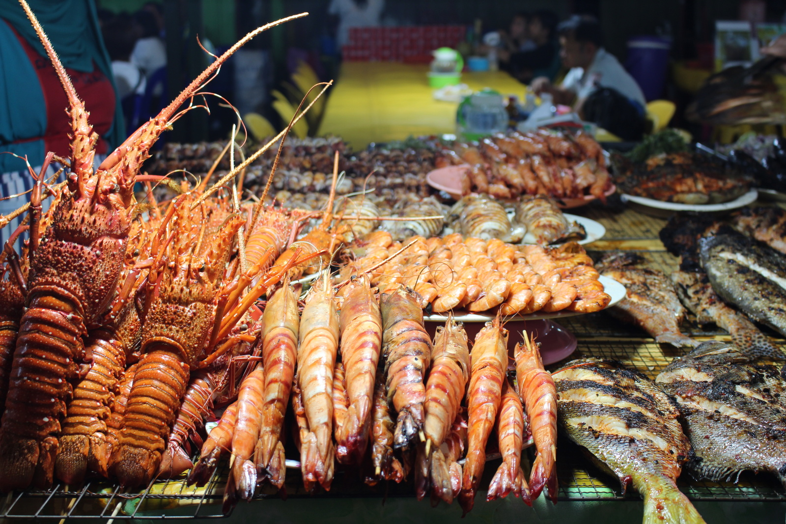 Ample seafood on our boat tours - Best Food in the Philippines