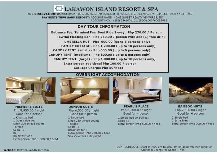 Iloilo-City-Bacolod-Lakawon-Island-Resort-Spalakawon-island-resort-prices